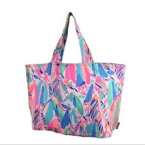 Lily Pulitzer Palm Beach Tote-OUT TO SEA